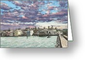 Puget Sound Greeting Cards - Coupeville Greeting Card by Perry Woodfin