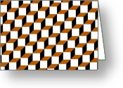 Bruster Greeting Cards - Cubism Squared Greeting Card by Clayton Bruster
