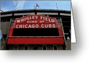 Baseball Game Digital Art Greeting Cards - Cubs House Greeting Card by Lyle  Huisken
