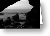 Dana Point Greeting Cards - Danas Cave Greeting Card by Brad Scott