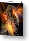 Seraph Greeting Cards - Dancing Two Greeting Card by Jean Gugliuzza