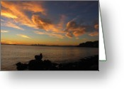Vari Buendia Greeting Cards - Dawn Greeting Card by Vari Buendia