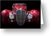 Transportation Greeting Cards - Delahaye Greeting Card by Wingsdomain Art and Photography