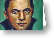Vampire Painting Greeting Cards - Dracula 1931 Greeting Card by Buffalo Bonker