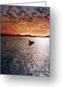 Blue Sky Greeting Cards - Drift Away Greeting Card by Photodream Art