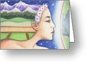 Karma Greeting Cards - Earth - The Elements Greeting Card by Amy S Turner