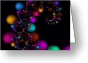 Dna Greeting Cards - Easter DNA Galaxy 111 Greeting Card by Rolf Bertram