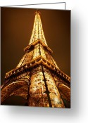 Paris Greeting Cards - Eiffel Greeting Card by Skip Hunt