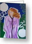 Amulet Greeting Cards - Enchanted Greeting Card by Carolyn Cable