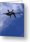 Afterburner Greeting Cards - F 18 Superhornet Greeting Card by Angel  Tarantella
