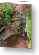 Anna Villarreal Garbis Greeting Cards - Falls Number 50 Greeting Card by Anna Villarreal Garbis