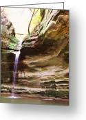 Anna Villarreal Garbis Greeting Cards - Falls Number 51 Greeting Card by Anna Villarreal Garbis