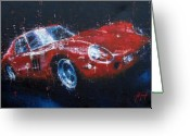 Enzo Ferrari Greeting Cards - Ferrari GTO Greeting Card by John D Lawson