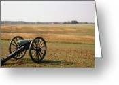 Cannons Greeting Cards - Fields Of Death Greeting Card by Richard Rizzo