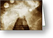 Steps Digital Art Greeting Cards - Final Destination Greeting Card by Photodream Art
