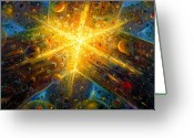 Origin Greeting Cards - Firmament Greeting Card by De Es Schwertberger