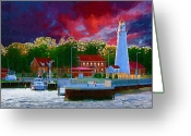 Coast Guard Greeting Cards - Fort Gratiot Lighthouse Greeting Card by Paul Bartoszek
