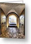 Historic Greeting Cards - Fort Moultrie Bunker Doors Greeting Card by Dustin K Ryan