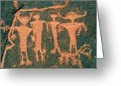 Anasazi Greeting Cards - Four Anasazi Greeting Card by David Lee Thompson