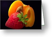 Apricots Photo Greeting Cards - Fruit Display Greeting Card by Amanda Vouglas