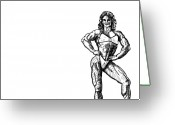 Strong Drawings Greeting Cards - Future Girlfriend Greeting Card by Karl Addison