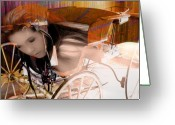 Bruster Greeting Cards - Ghost In The Carriage House Greeting Card by Clayton Bruster