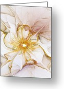 Glow Greeting Cards - Golden Glow Greeting Card by Amanda Moore