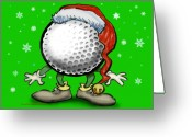Humor Greeting Cards - Golfmas Greeting Card by Kevin Middleton