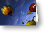 Balloon Fiesta Greeting Cards - Good Vibrations Greeting Card by Angel  Tarantella
