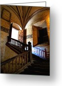 Convent Greeting Cards - Grand Staircase 2 Greeting Card by Olden Mexico