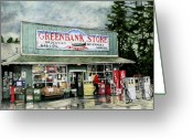 Groceries Greeting Cards - Greenbank Store Greeting Card by Perry Woodfin