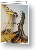 Carola E. Thiele Greeting Cards - ---Der ewige Baum--- Greeting Card by Carola Eleonore Thiele