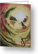 Carola E. Thiele Greeting Cards - ---Glow in the morning--- Greeting Card by Carola Eleonore Thiele