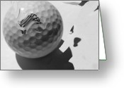 Golf Digital Art Greeting Cards -  A Golf Ball On Holiday Greeting Card by Evguenia Men