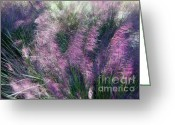 Color Purple Greeting Cards -  A Light Breeze  Greeting Card by Gerlinde Keating - Keating Associates Inc
