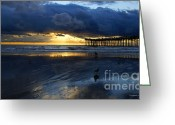 Beach Landscapes Greeting Cards -  After The Storm   Greeting Card by Christopher  Ward