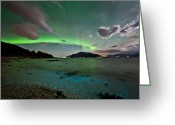 Canon 5d Mk2 Greeting Cards -  Auroras and dinoflagellates Greeting Card by Frank Olsen