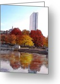 Charles River Digital Art Greeting Cards -  Back Bay Colors Greeting Card by Carl Licence