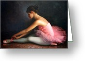 Sat Greeting Cards -  Ballerina Greeting Card by Yoo Choong Yeul