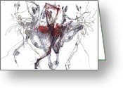 Ballet Greeting Cards -  Ballet Trajectory Or Nutckracker Greeting Card by Lousine Hogtanian