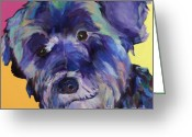 Whiskers Greeting Cards -  Beau Greeting Card by Pat Saunders-White