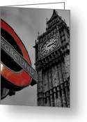 City And Colour Greeting Cards -  Big Ben London Greeting Card by Phil Clements