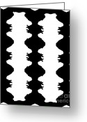 Introvert Greeting Cards -  Black and White No.167  Greeting Card by Drinka Mercep
