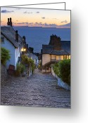 West Country Greeting Cards -  Clovelly Greeting Card by Sebastian Wasek