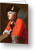 Redcoat Painting Greeting Cards -  Colonel John Montresor  Greeting Card by John Singleton Copley