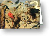 Concert Painting Greeting Cards -  Concert of Birds Greeting Card by Pg Reproductions