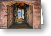 Senegal Greeting Cards -  Door Of No Return Greeting Card by Tony Vegas