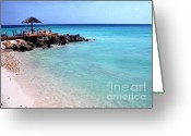 Vacation Destination Greeting Cards -  Eagle Beach Aruba Greeting Card by Thomas R Fletcher