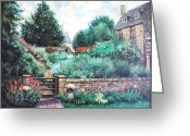 English Garden And House Greeting Cards -   English Country Home 1 Greeting Card by    Armand  Storace