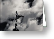 Eros Statue Greeting Cards -  Eros Greeting Card by Beverly Cash